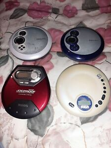 Vintage Discman CD Players Lot of 4- Phillips & RCA- AX2411, AX2412, AX5116