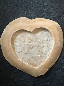 Latex Mould To Make Heart Shaped Memorial Pet Plaque Ornament, Hobby, Arts