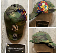 RARE New York Yankees '47 Camo Floral Adjustable Clean up Hat Flowers Camo
