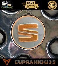 """Eaziwrap Leon MK3 & 3.5 Cupra FR Alloy Centre """"S"""" Overlay Sticker Copper / Black"""
