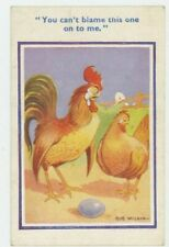 You Can't Blame This On Me, Chicken Comic Postcard, C050