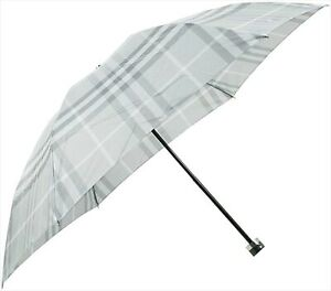New Burberry Folding Umbrella Gray Nova Check 55cm from Japan