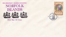 1992 500th ANNIVERSARY OF CHRISTOPHER COLUMBUS EXPLORATION FDC - NORFOLK ISLANDS