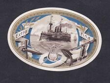 Ancienne   petite  Lytho médaillon  Cigare Label  BN54372 Bateau