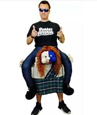 Ride On Scotsman Kilt Brave Ginger Scot Fancy Dress Costume Carry Back