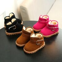 Fashion Infant Toddler Baby Girls Boys Casual Snow Boots Buckle Ankle Shoes