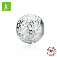100% 925 Sterling Silver Charm Beads European Gifts Fit Women Bracelet Bangle