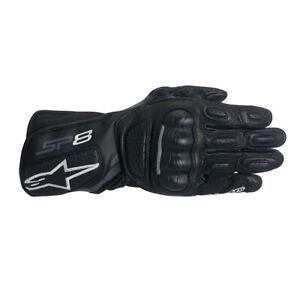 Alpinestars Stella SP-8 v2 Leather Motorcycle Motorbike Glove Black Dark Grey