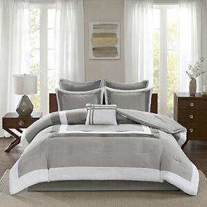 Comfort Spaces Cozy Comforter Set-Modern Classic Design All Season Down Alternat