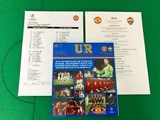 Manchester United v CSKA Moscow. December 2017. Programme, Team Sheet, Menu.