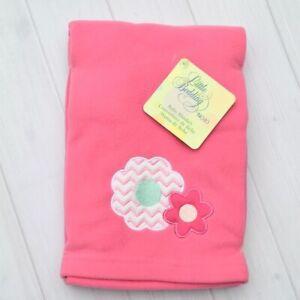 NWT Nojo Pink Fleece Flower Blanket Baby Girl