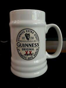 Unused GUINNESS XX Original White Ceramic Pint sized Tankard