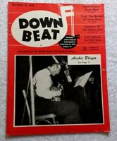 DOWNBEAT MAGAZINE Nov 16, 1955 • 2-Page GIBSON AMP Ad • Thad JONES Jazz Big Band