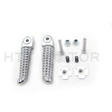 Front Foot Peg Footrest For Yamaha YZF R1 98-2014 R6 1999-14 R6S 03-08 Silver BK