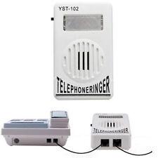 Telephone Phone Amplifier Strobe Light Flasher Bell Ringer Extra-Loud 95dB