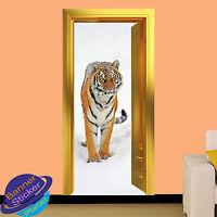 LION IN WILD 3D GOLDEN DOOR WALL STICKER HOME DECORATION DECAL MURAL