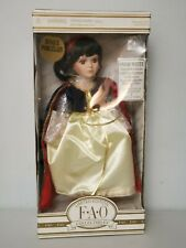"FAO Schwarz Porcelain Doll Snow White 12"" Story Book Disney Limited"