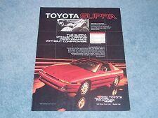 "1986 Toyota Supra Vintage Ad ""The Supra Dynasty Begins...."""