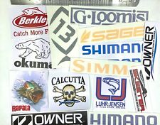 Fishing Decals wholesale lot of 15 stickers, Quality Sticker for fisherman