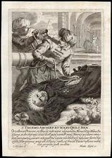 santino incisione 1600 B. THIEMONE ARCIV. DI SALZBURG M.