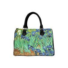 Irises Van Gogh Art Barrel Hand Bag Handbag