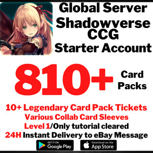 [GLOBAL] [INSTANT] 810+ Card Pack Tickets | Shadowverse CCG Starter Account