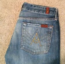 7 For All Mankind A Pocket Boot Cut Frayed Hem Size 27 28x29 Women