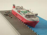 1:400 Scale Bahamas Elbe Highway Vehicles Carrier Handcraft Paper Model Kit