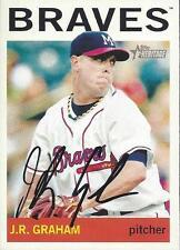J.R. Graham Atlanta Braves 2013 Topps Heritage Signed Card
