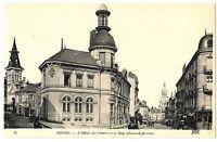 CPA 01 Ain Bourg L'Hôtel des Postes et Rue Alsace-Lorraine animé