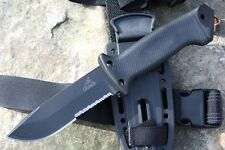 Gerber LMF II Infantry Survival Knife Tactical Combo Edge Hunting Knife BLACK-