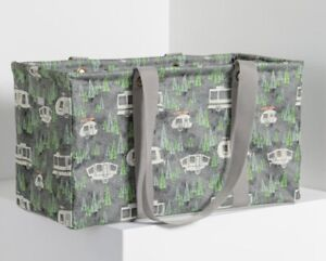 Thirty One Large Utility Tote - RV There Yet Grey new bag storage tote camping