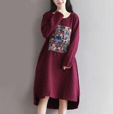 Création! Robe tunique épaisse broderie fantaisie rouge foncé T.40 - 42 41567008