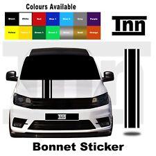 Etiqueta engomada de Bonnet Raya Para VW Volkswagen Caddy Mk 3 4 5 6 7 Vinilo Calcomanía van