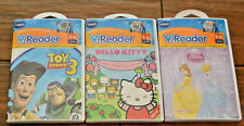New V.Reader Games Ages 3-5 New Sealed (3) Toy Story Disney Princess Hello Kitty