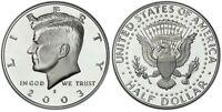 2003-S Silver Proof Kennedy Half Dollar - Gem Deep Cameo Proof -Silver Proof Set