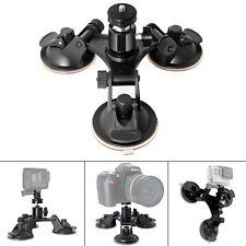 Fantaseal Triple Cup Camera Suction Mount DSLR Action Camera Camcorder Car Gl...