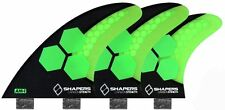 Shapers Fins - AM1 Stealth Tri-Quad-5 Fin (FCS) - Green - Medium - Surf - New