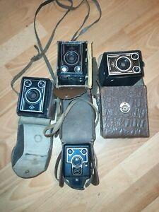 Boxkamera Altissa Agfa Synchro Box Altissar 4 Stück Original Tasche