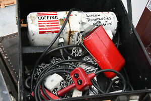 Coffing 2-ton Chain Hoist with Pendant Control.