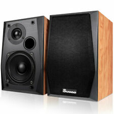 New listing Costway Wall-Mount Passive Bookshelf Speakers Professional Home Office W/ 4''