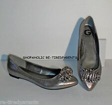 G BY GUESS – SHOES - SEMI-FORMAL SLIP ON FLATS – SHIMMERY FABRIC - SIZE 10 - $65
