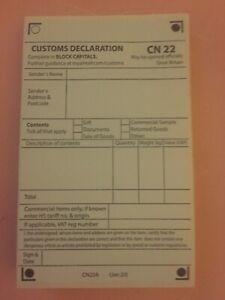 Self Adhesive Customs Declaration CN22 ~25/50/100/150/200/250 & S10 BARCODES