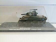 IXO Die-cast Model 1:72 Scale M4A3 Sherman 756th Tank Battalion France - 1945