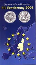 5 Euro Öst 2004 EU-Erweiterung Hgh. im Blister