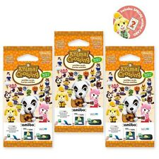 ANIMAL CROSSING NEW HORIZONS AMIIBO CARDS SERIES 2 PACKETS! 1 x PACK OF 3 CARDS
