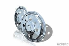 """19.5"""" Universel Acier Inoxydable front inner wheel trims Cover truck camion"""