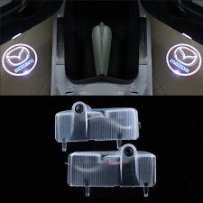 2x LED mazda logo door step courtesy laser projector light For Mazda 6 2003-2013