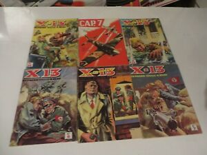 FRENCH COMIC BOOK DIGEST LOT OF 6 WWII WAR FIGHTING  1960s FREE SHIPPING *****W2