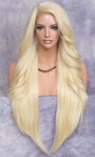Extra Long Lace Front Wig Full Beach Blonde Heat OK Feathered wavy WBPC 613 NWT